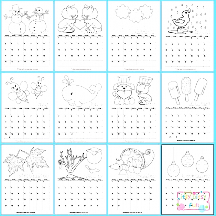 Pin On Calendars in Itbsy Bitsy Fun Calendars