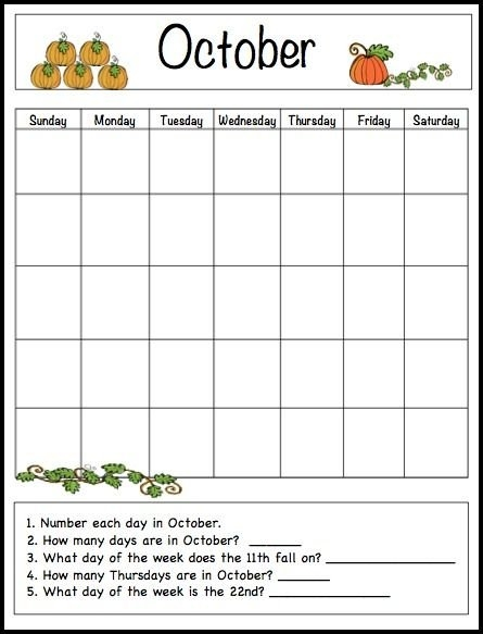 Pin On Math Is Fun ! with Monday To Friday Calendar To Print Out Fall Image