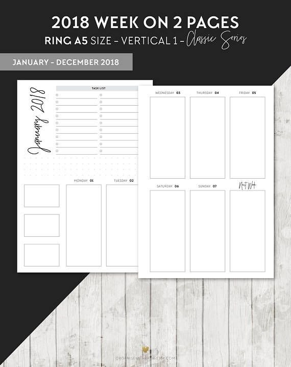 Pin On Planner throughout Calendar Week To A Page