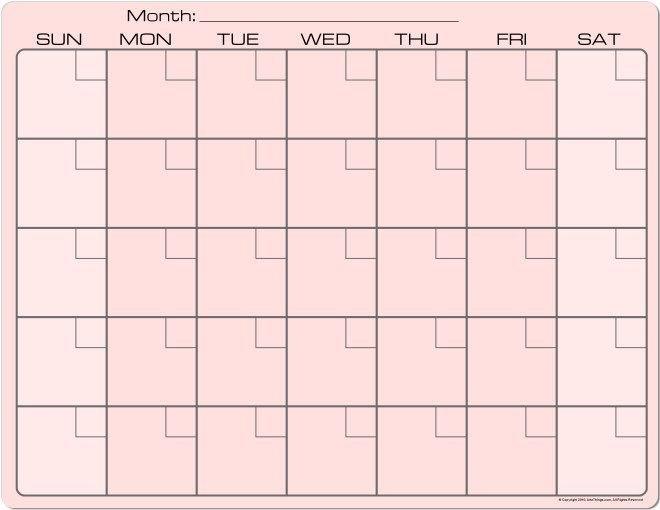 Pink Dry Erase Monthly Calendar 8.5X11 Fridge Magnet throughout 8.5 X 11 Printable Calendar