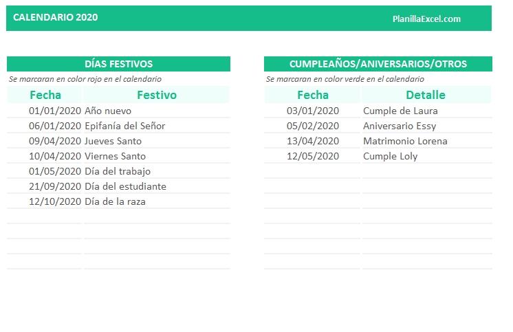 Planillaexcel - Descarga Plantillas De Excel Gratis regarding Agenda Calendario En Excel Gratis Image