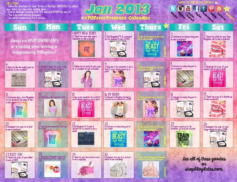 Popsterpresents Calendar – Blogilates within Blogilates Calendar