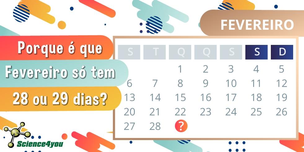 Porque É Que Fevereiro Só Tem 28 Ou 29 Dias? - Science4You throughout Numero De Dias Juliano 2020 Pdf