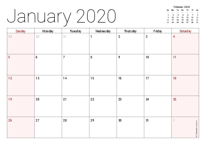 Printable 2020 Calendars (Pdf) - Calendar-12 in The No Frills Holiday Calendar By Month