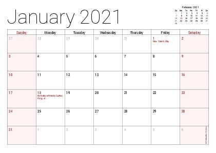 Printable 2020 Calendars (Pdf) - Calendar-12 with regard to The No Frills Basic Calendars