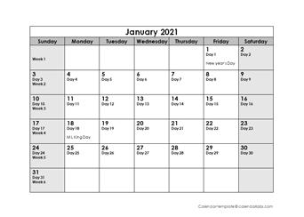 Printable 2021 Julian Date Calendar - Calendarlabs inside Reverse Julian Date Calender 2020