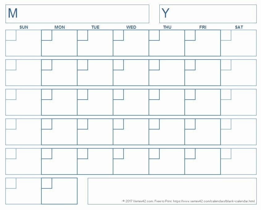 Printable Calendar Blank In 2020   Printable Blank Calendar within Empty Calendar Grid 8.5 X 11 Photo