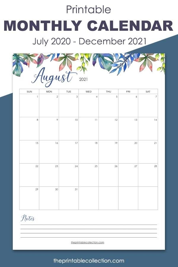 Remember Everything Every Month During 2021 With This pertaining to August Calendar Printable With Border Photo