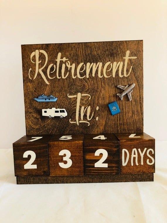 Retirement Countdown Calendar Travel Theme | Etsy regarding Retirement Countdown Calendars Printable Graphics