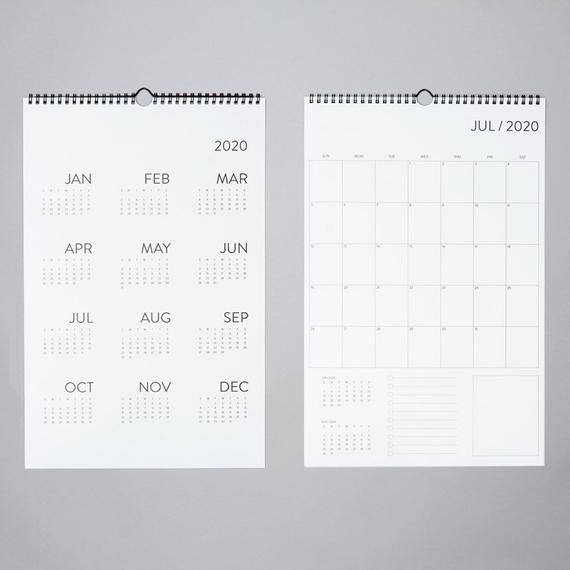 Sale. 12 Month Wall Calendar 2020 with The No Frills Basic Calendars Image