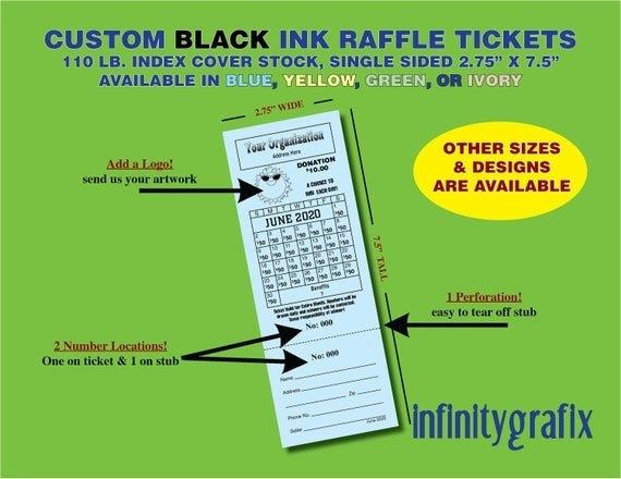 Small Custom Lottery Calendar Raffle Tickets inside Lottery Raffle Calendars Graphics