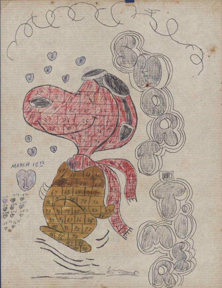 "Snoopy ""Short Timer"" Calendar - Documents - Arkansas Studies for Army Short Timer Calendar Photo"
