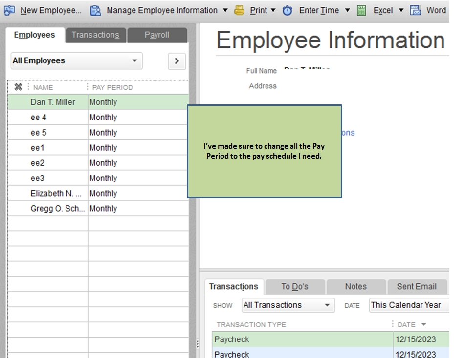 Solved: Can'T Delete Or Make Inactive Payroll Schedule in Us 2Weekly Pay Day Calander