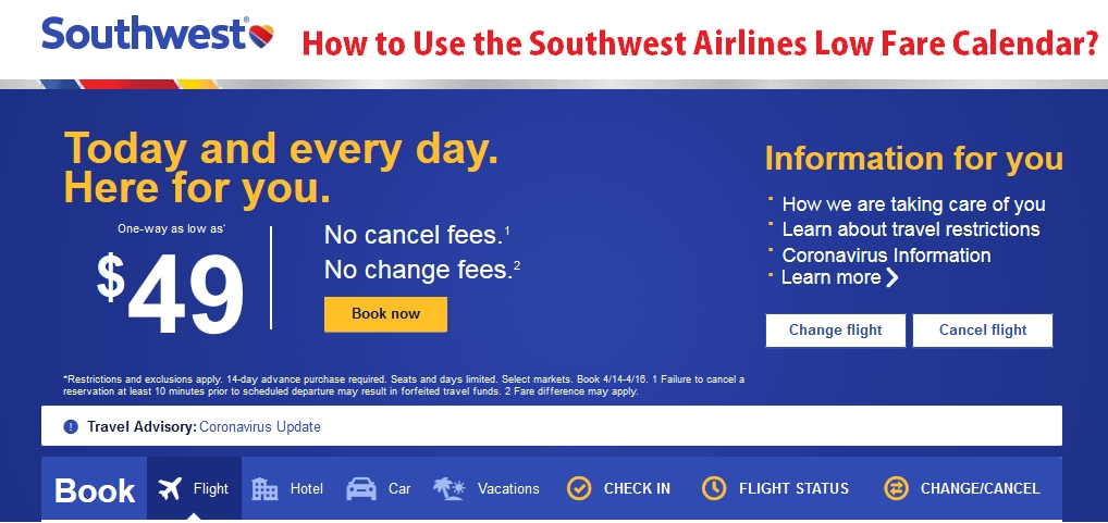 Southwest Airlines Low Fare Calendar 1-888-530-0499 intended for Southwest Airlines Calendar Graphics