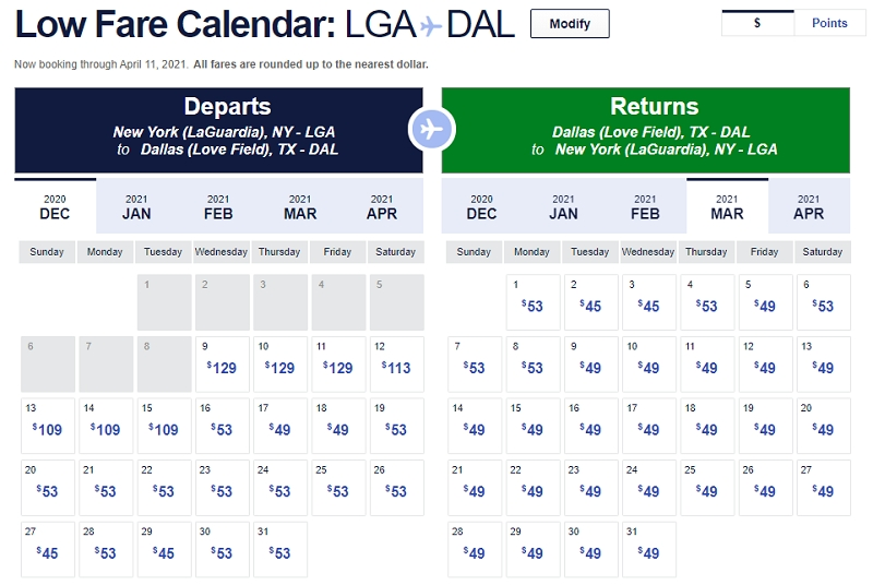 Southwest Airlines Low Fare Calendar 2021, 1-888-526-9336 throughout Southwest Airlines Calendar Graphics