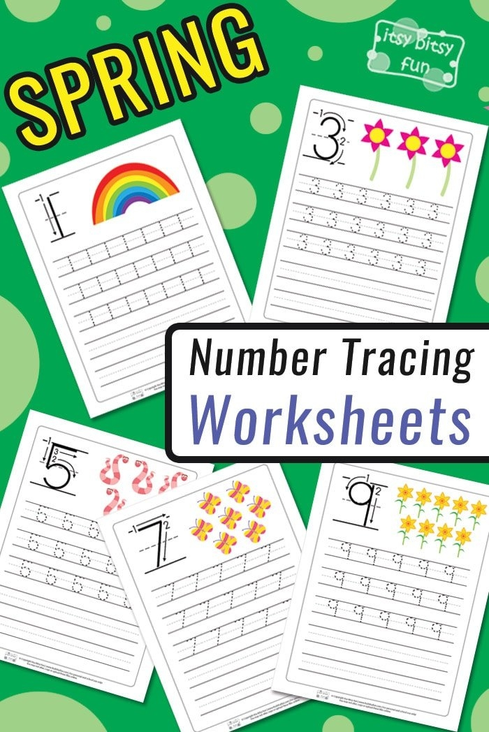 Spring Number Tracing Worksheets - Itsybitsyfun intended for Itbsy Bitsy Fun Calendars Photo