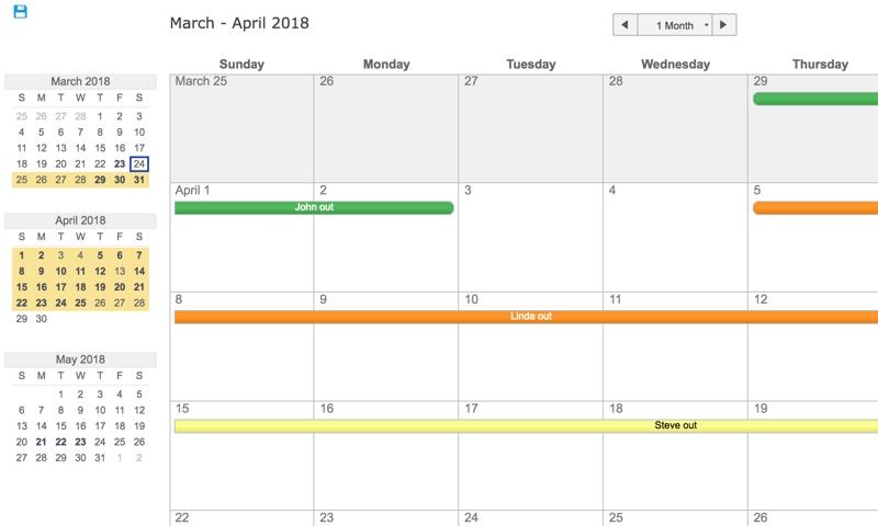 Team Vacation Planner | Smartsheet regarding Time Off Calendar Template Graphics