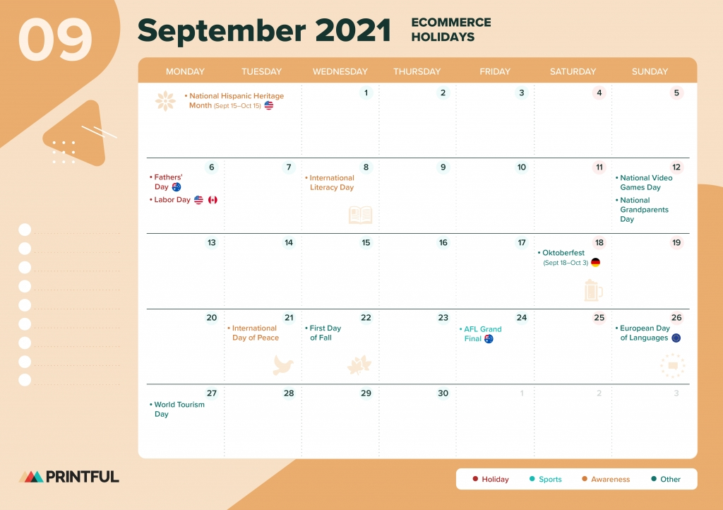 The Ultimate 2021 Ecommerce Holiday Calendar [Editable for Pick A Calender Date And Pay That Fundraiser