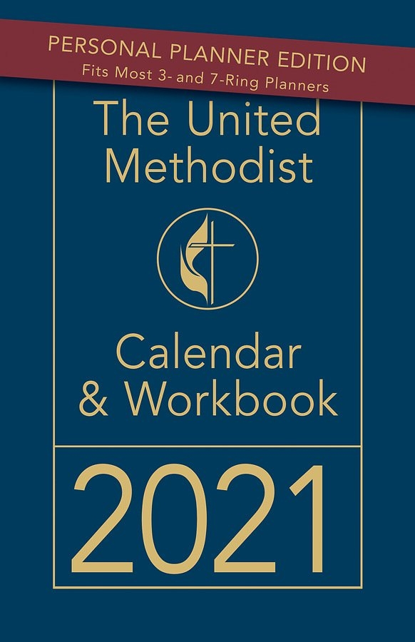 The United Methodist Calendar & Workbook 2021 Personal Planner Edition for United.methodist Clarndar And Parament Colors Image