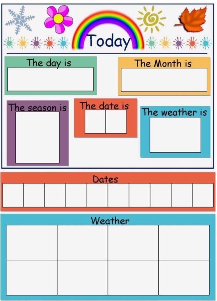 Today Is   Preschool Weather, Preschool Weather Chart within Free Preschool Calendar Sarah Kirby Graphics