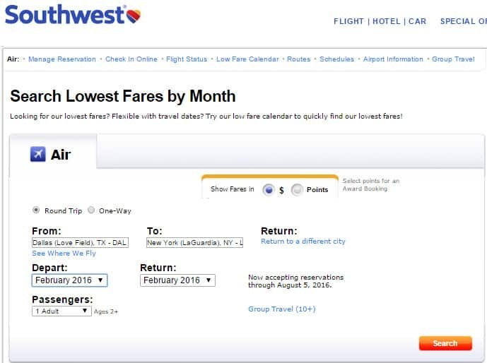 Use The Fare Calendar To Find The Cheapest Flights On within Southwest Airlines Calendar