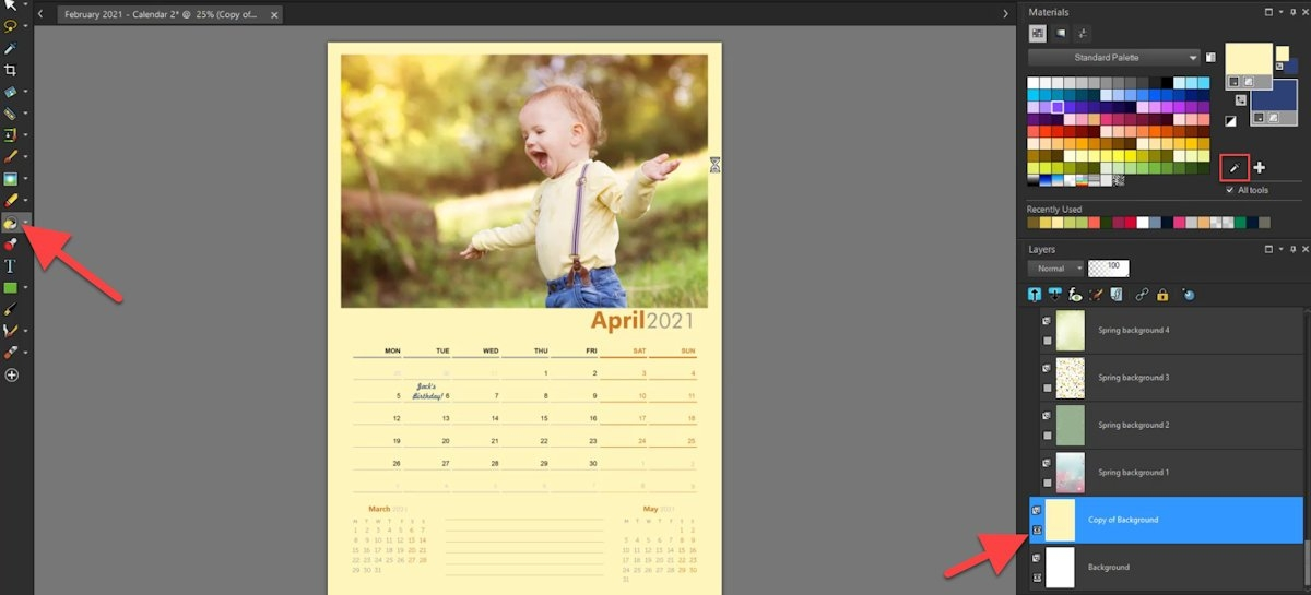 Using Templates To Create Custom Calendars - Corel Discovery inside Wordperfect Calender Graphics