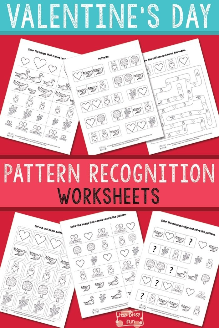 Valentine'S Day Pattern Recognition Worksheets pertaining to Itbsy Bitsy Fun Calendars Photo