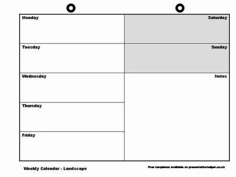 Weekly Calendar Template regarding Blank Weekly Calendar Sunday Through Saturday Photo