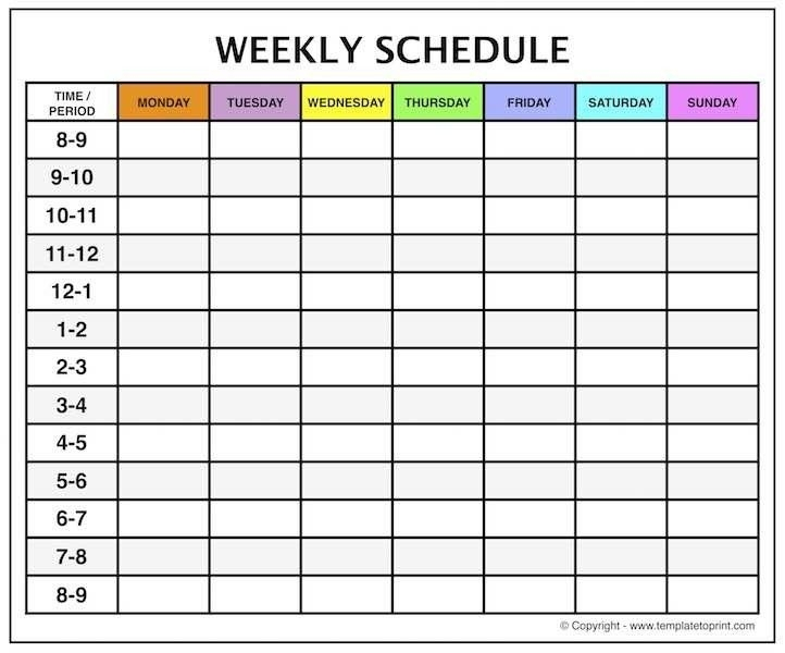 Weekly Calendar Template Time Slots Five Things That Happen for Printable Calendar With Times Slots Image