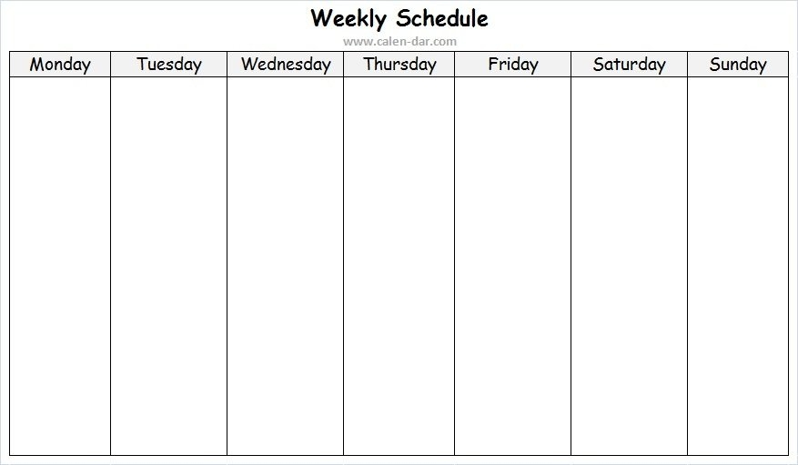Weekly Schedule Tumblr Wallpaper From Sunday To Saturday intended for Blank Weekly Calendar Sunday Through Saturday