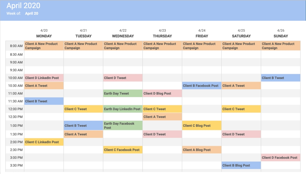 What Is A Content Calendar? inside Monthly Color Coded Schedule