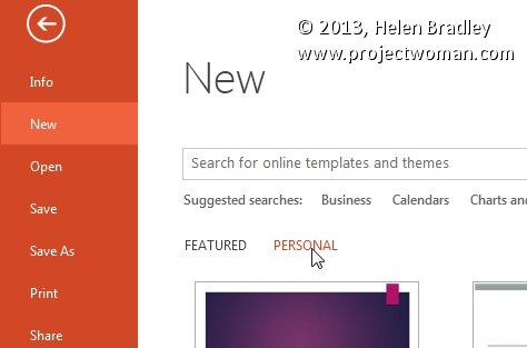 What To Do When Your Powerpoint 2013 Templates Go Missing throughout Helen Bradley Calendar Wizard