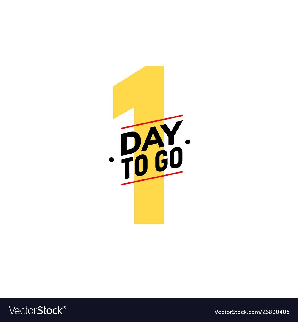 1 Day To Go Last Countdown Icon One Day Go Sale Vector Image pertaining to Countdown Graphics For Facebook