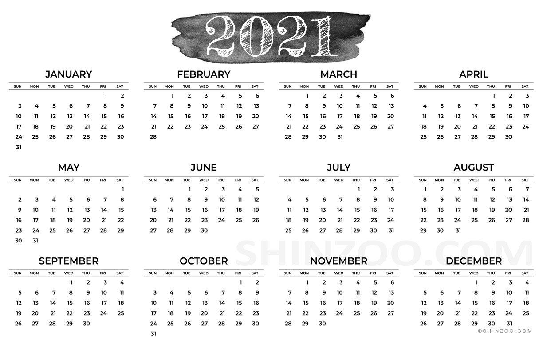 11×17 Printable Calendar 2021   Free 2021 Printable Calendars pertaining to Large Print Free Printable Calendar 2021