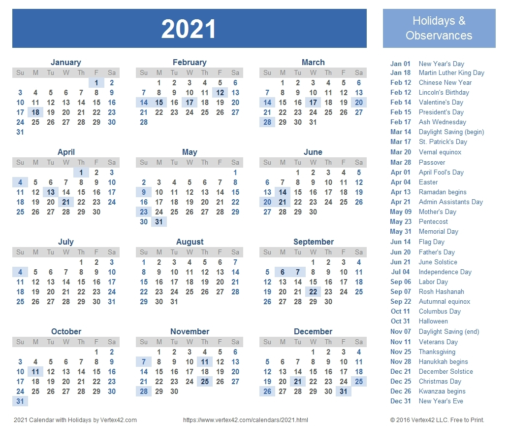 12 Month Calendar 2021 Printable - Template Calendar Design inside Two Year Calendar Template 2021 2021