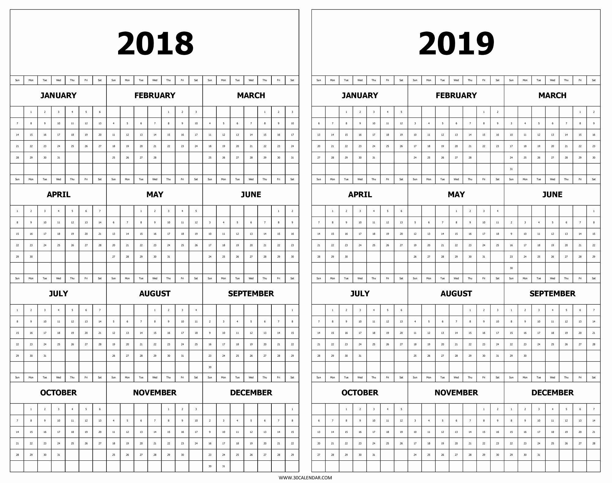 2 Year Calendar On One Page | Ten Free Printable Calendar 2020-2021 inside Yrdsb Calendar 2019 2021