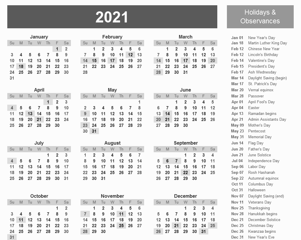 20+ 12 Month Calendar 2021 Excel - Free Download Printable Calendar Templates ️ intended for Calendar 2021 In Limba Romana