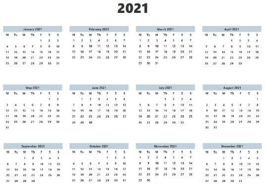 20+ Calendar 2021 Landscape - Free Download Printable Calendar Templates ️ pertaining to Printable Largebox Grid Calendar 2021 Graphics