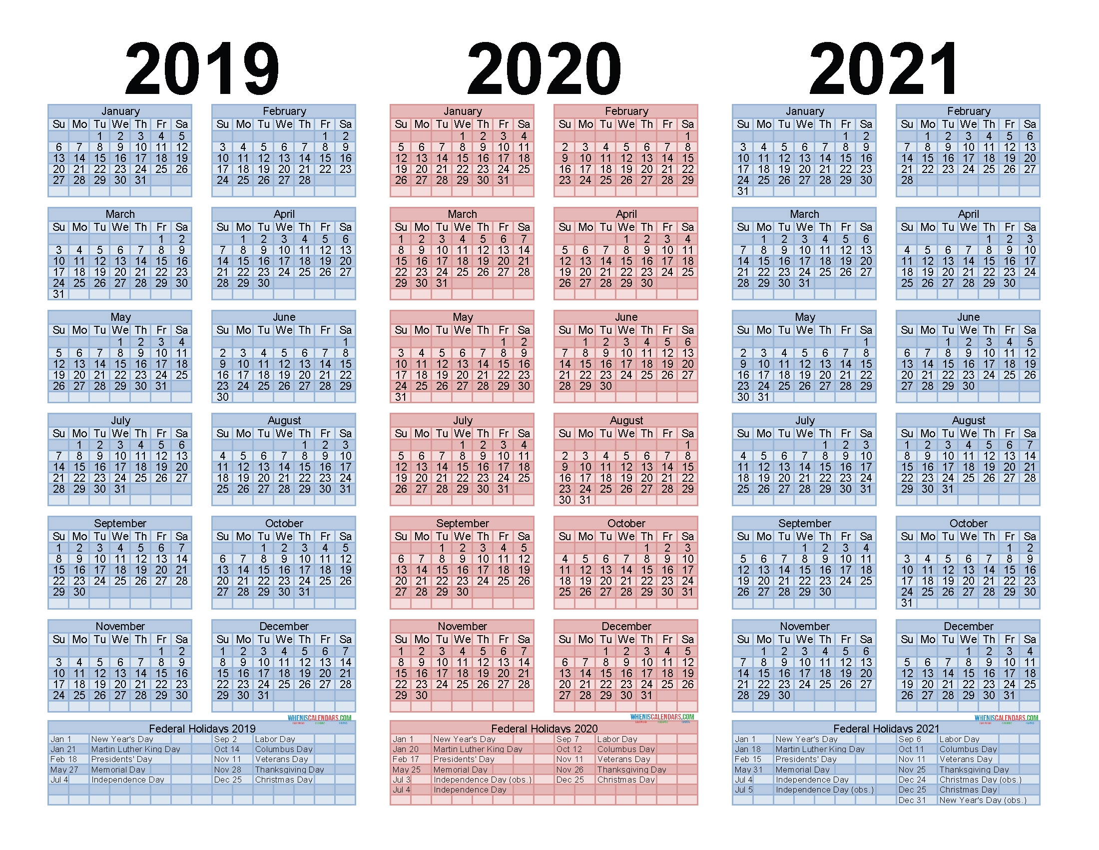 2019 To 2021 Free Calendar Template 3 Year Calendar Printable - Free Printable 2020 Monthly throughout Three Year Calendar 2019 2021 2021 Calendar Pedia