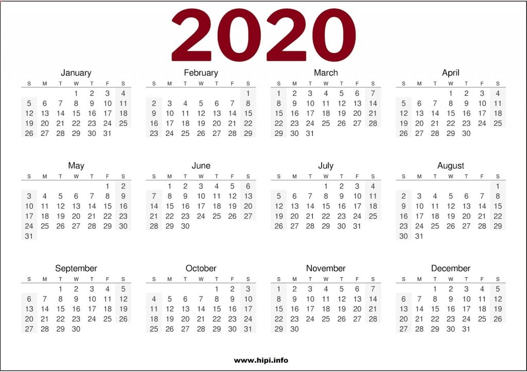 2020 Calendar Printable One Page 8 X 11 - Calendar Template 2021 for One Page2021 Calendar Printable Images