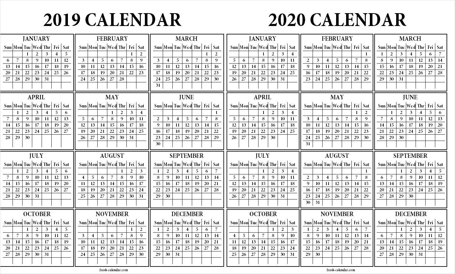 2020 Calendar Wallpapers - Wallpaper Cave with Sample One Page Multi Year Calendars Image