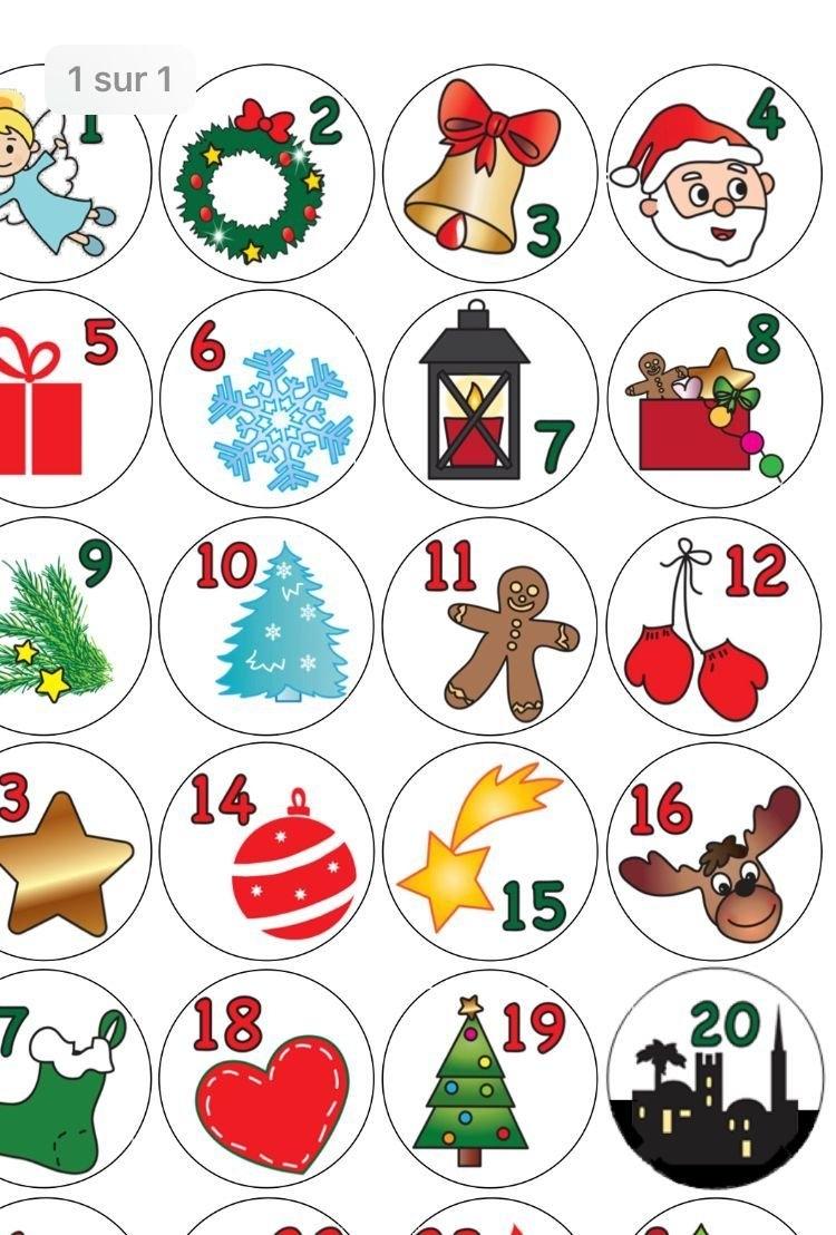 2020 Countdown To Chhristmas Calander Printable | Example Calendar Printable throughout Template For Advent Calendar