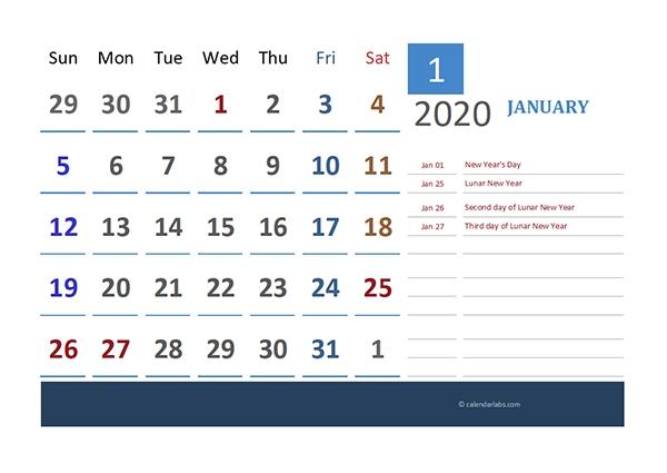 2020 Hong-Kong Calendar For Vacation Tracking - Free Printable Templates intended for 2021 Calendar Hong Kong Template