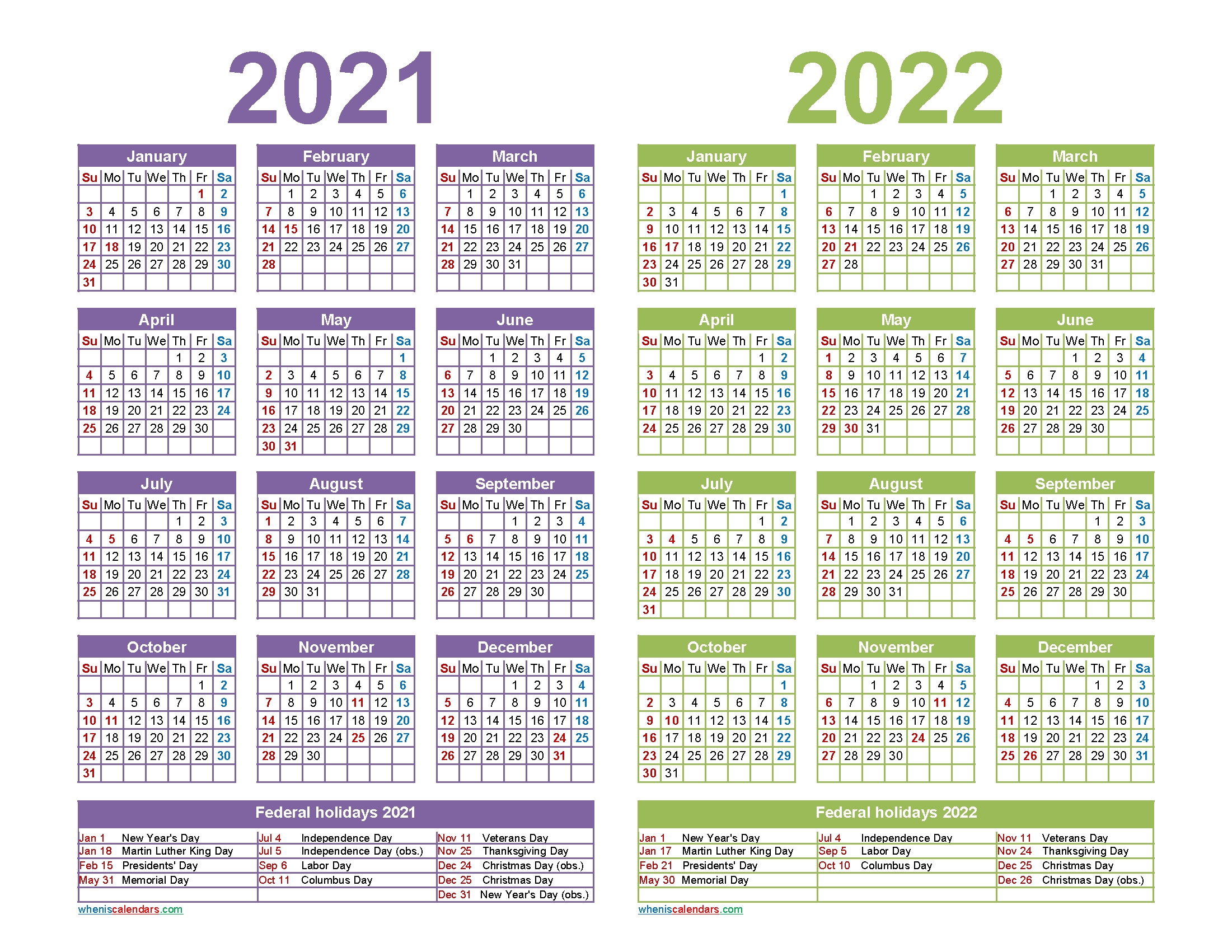 2021 2022 Calendar Printable With Holidays | Free Printable 2020 Calendar With Holidays pertaining to 2021 2022 Calendar Printable One Page