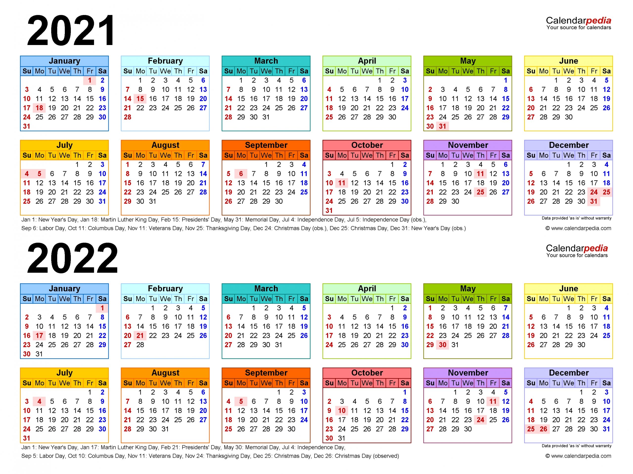 2021-2022 Two Year Calendar - Free Printable Word Templates intended for 2021 2022 Calendar Printable One Page Photo