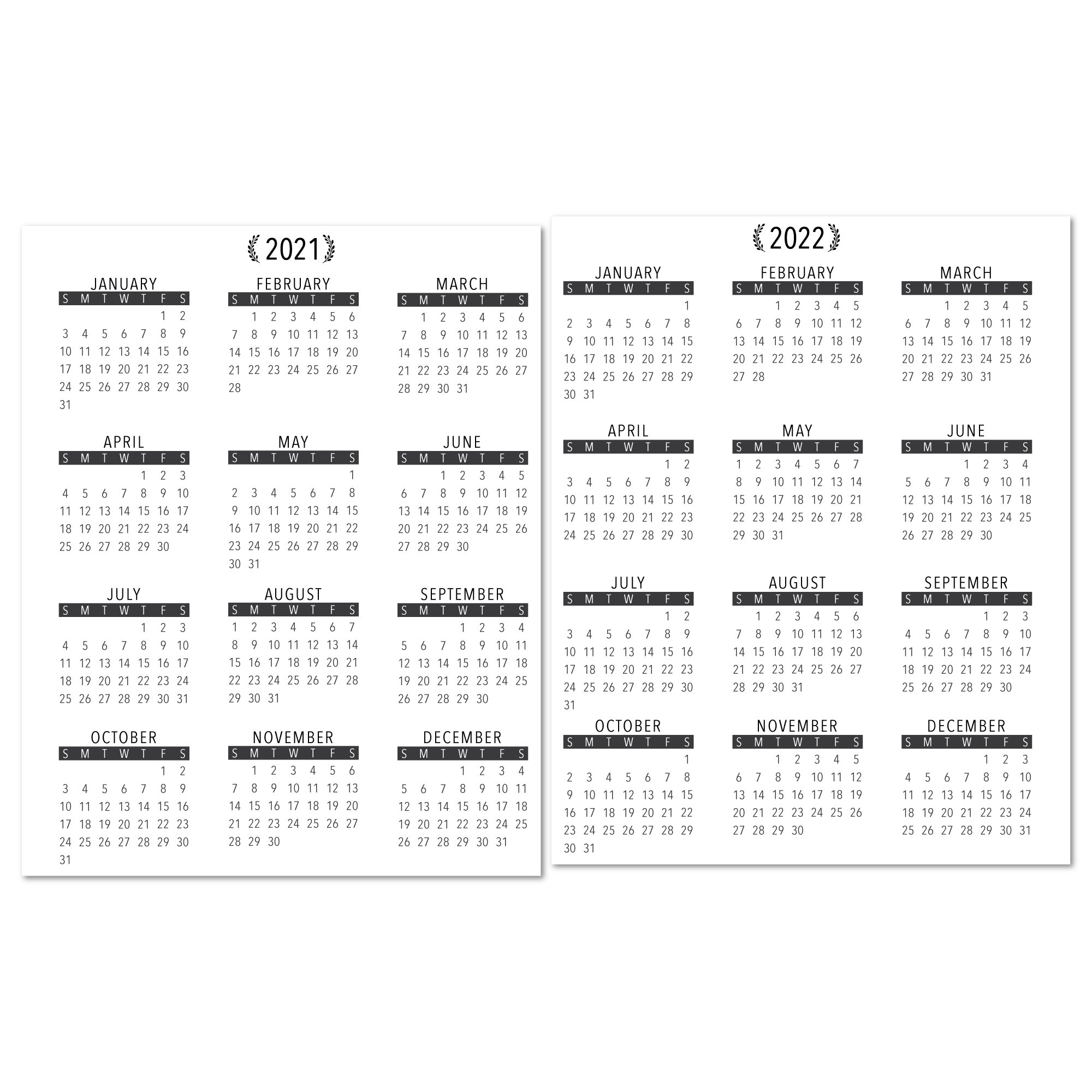 2021-2022 Year At A Glance Calendar With Lamination - Citygirl Planners with regard to 3 Year Calendar 2021 2021 2022