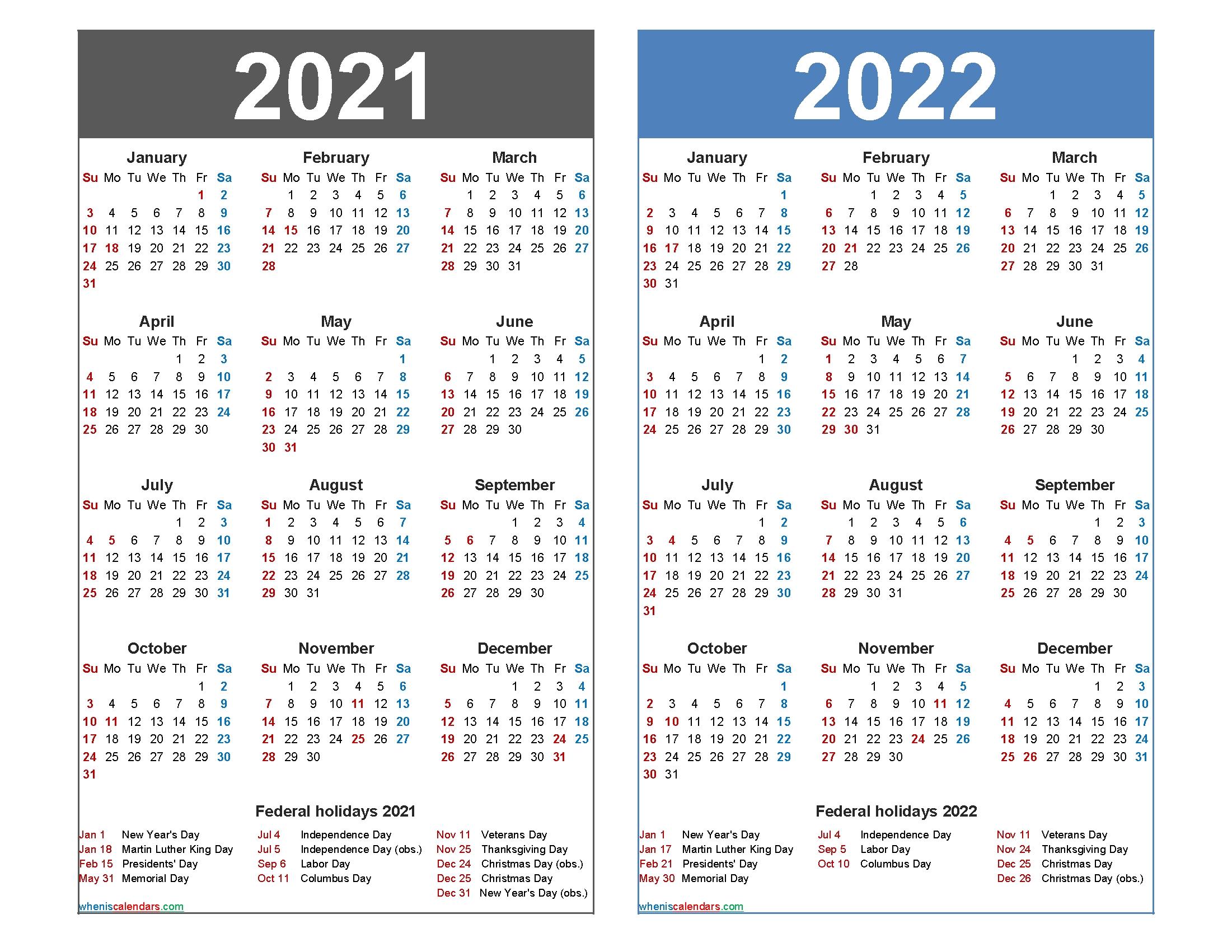 2021 2022 Yearly Calendar | Calendar 2021 intended for 3 Year Printable Calendar 2021 2021 2022
