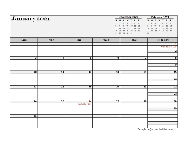 2021 Australia Calendar For Vacation Tracking - Free Printable Templates within 2021 Calendar Template Excel Australia