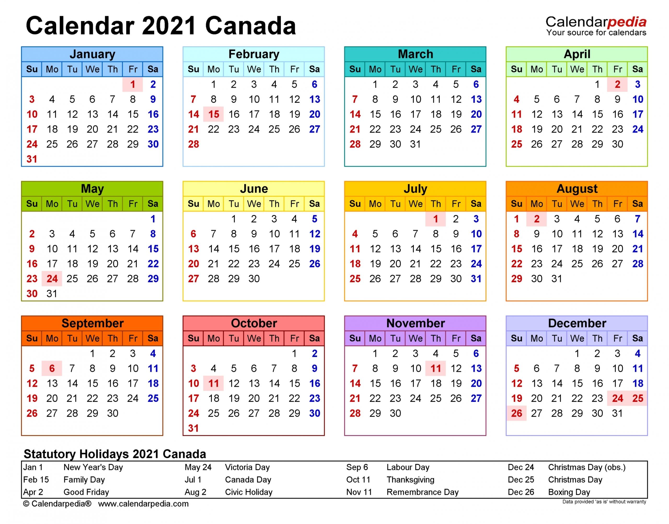2021 Calendar Excel Formula | Printablecalendarsfor2021 inside Ontario Calendar 2021 With Holidays