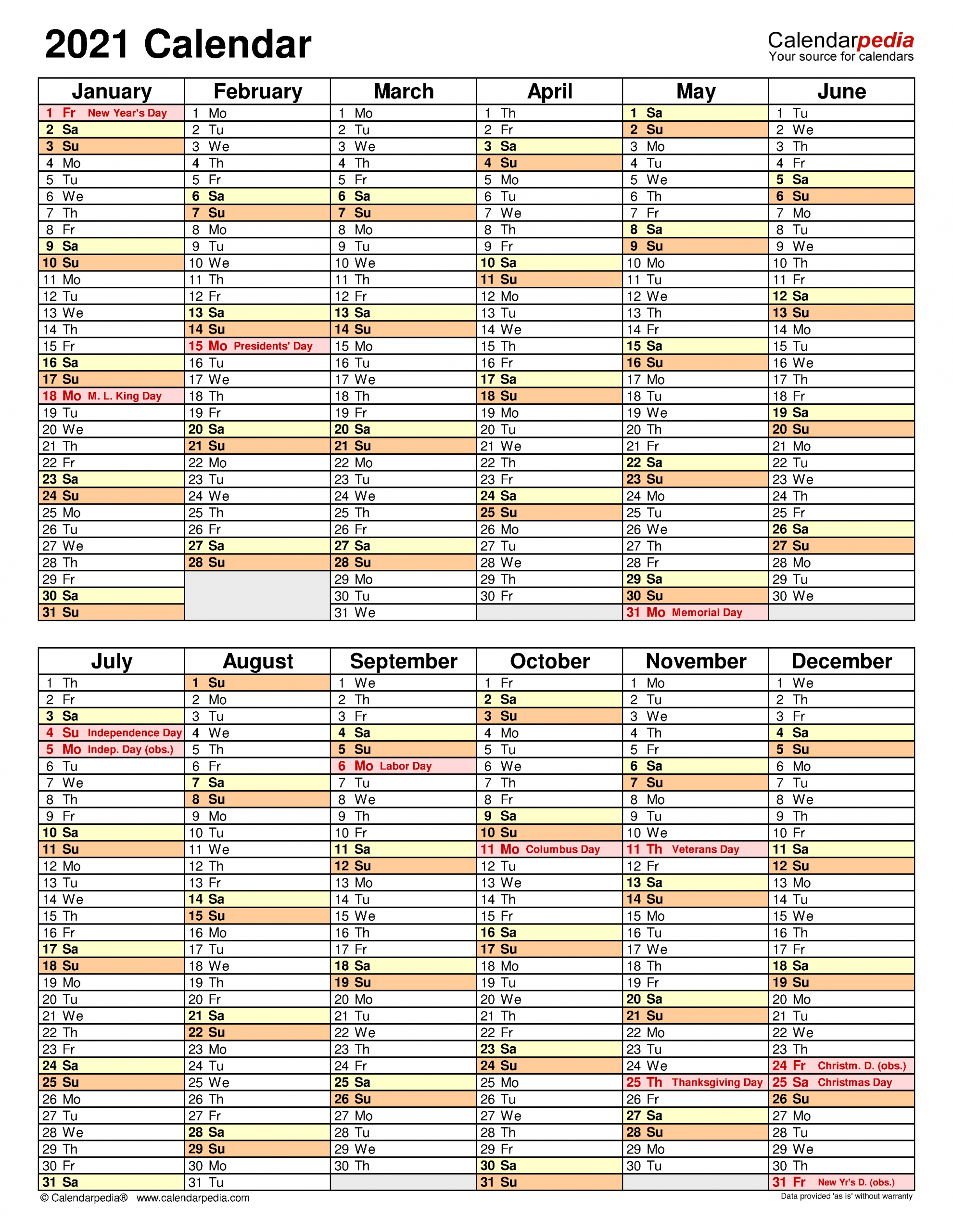2021 Calendar - Free Printable Excel Templates - Calendarpedia pertaining to Calendar Template 2021 Indesign Image
